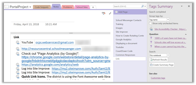 What Use Are OneNote Tags? | SharePointMike's Blog
