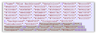 JSON code to change the page wallpaper color and page background color