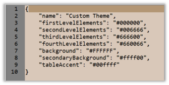 A Theme does not require the dataColors element