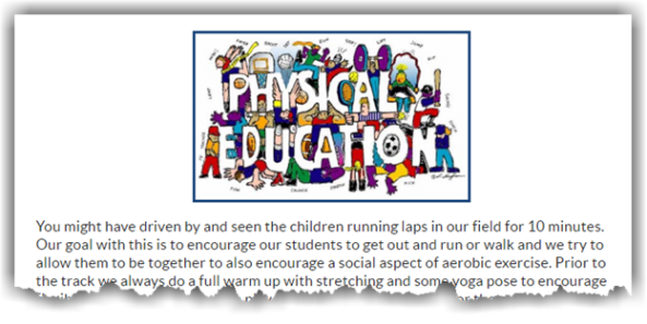 Example of image with simple text in it that says: Physical Education